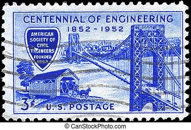 USA - CIRCA 1952 George Washington Bridge