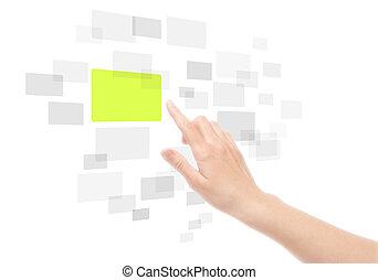 Usando la interfaz de la pantalla de contacto