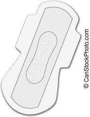 Uso de servilletas higiénico del vector