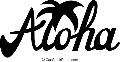 usos, camiseta, otro, aloha, ilustración