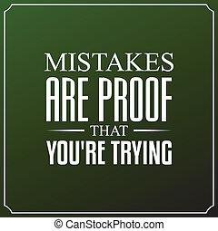 usted es, tipografía, citas, errores, diseño, plano de fondo, trying., prueba