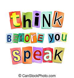 usted, pensar, speak., antes