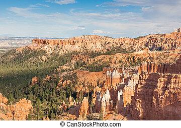 utah, geológico, cañón de bryce, formaciones, parque nacional