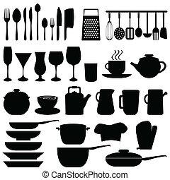 Utensilios de cocina y objetos
