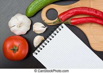 utensilios, vegetales, cocina