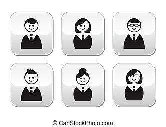 Utilistas iconos, botones brillantes