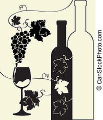 Uvas de vino de botella