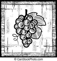 Uvas retrógradas, negras y blancas