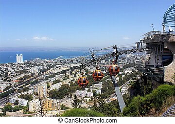 vía férrea funicular, haifa