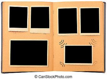 vacío, álbum, fotos, vendimia, foto