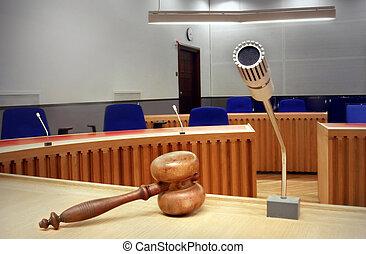 vacío, courtroom