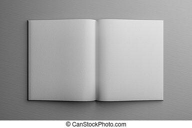 vacío, metro, blanco, 3d, ilustración, gris, libro, render, abierto