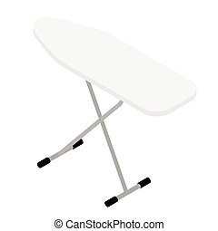 vacío, tabla, aislado, fondo blanco, planchado