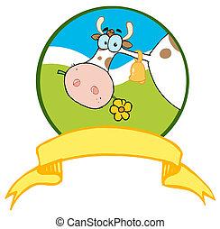 Vaca de logot-logo de cartón
