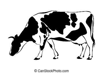 vaca, silueta