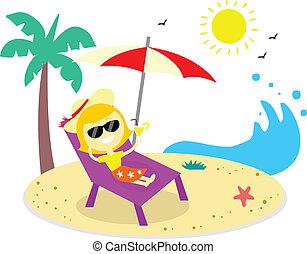 vacaciones de playa, relajante