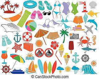 Vacaciones de viaje (Summer) iconos