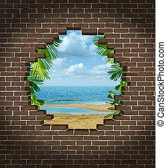 vacaciones, escape