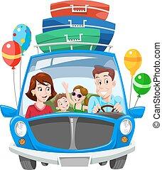 Vacaciones familiares, ilustraciones