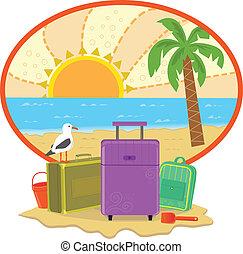 vacaciones, icono