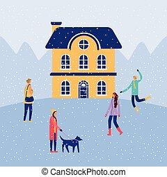 vacaciones, navidad, invierno