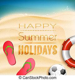 vacaciones, plano de fondo, verano