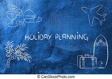 vacaciones viajan, planificación, industry:, reservación