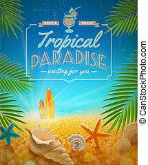 Vacaciones, viajes y vacaciones de verano diseño vectorial
