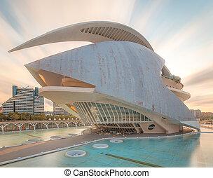 valencia, arquitectura, moderno, europeo