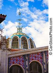 Valencia mercado central del mercado de domo al aire libre