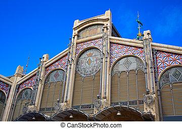 Valencia mercado central en España