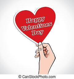 Valentine corazón palabra en mano