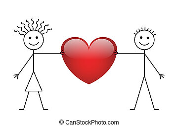 Valentine palo chico y chica