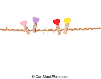valentines, soga, clothespins