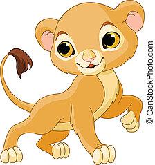 Valiente cachorro de león