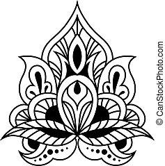 Valiente diseño floral y negro