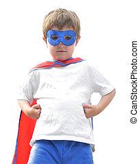 Valiente super héroe de blanco