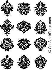 Valientes motivos florales arabescos