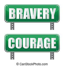 valor, señal, camino, valor, y