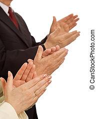Valores empresariales, respeto y rendimiento gratificante