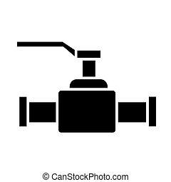 Valve 2 icono, ilustración vectorial, signo negro en el fondo aislado