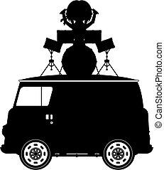 Van  ⁇  baterista silhouette