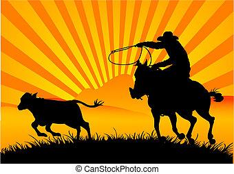 Vaquero cabalgado