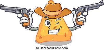 Vaqueros nachos estilo dibujos animados