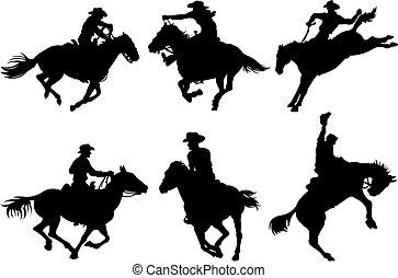 Vaqueros siluetas