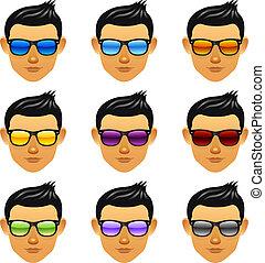 Varón con gafas de sol