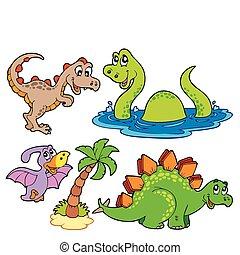 Varias colecciones de dinosaurios