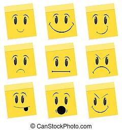 Varias expresiones faciales