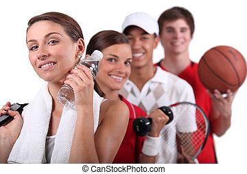 Variedad de actividades físicas