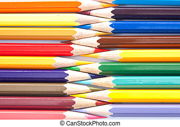 Variedad de colores pastel arreglados en fila